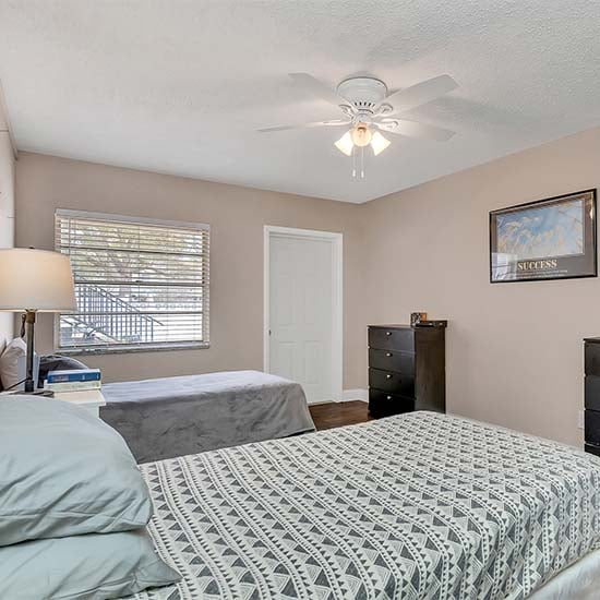fully furnished living spaces and bedrooms for sober living residents St. Petersburg Sober Living
